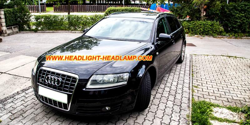 Audi A6 C6 Standard Halogen Headlight Rear Tail Lamp Upgrade