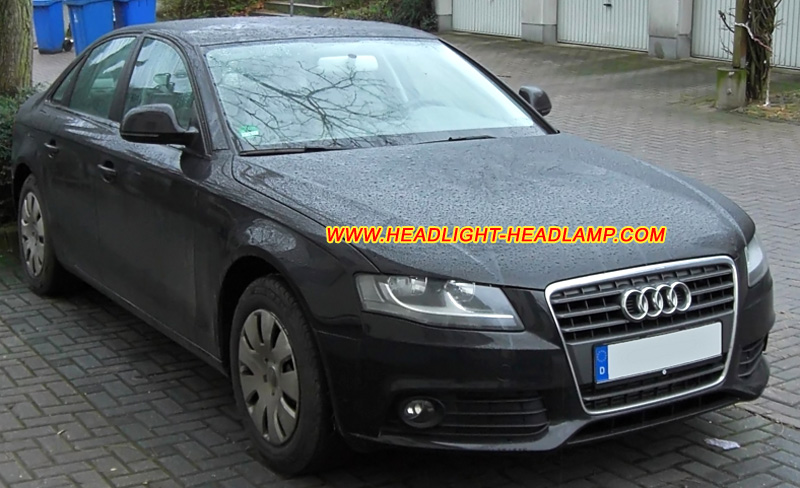 audi a4 b8 standard halogen headlight upgrade to bi xenon. Black Bedroom Furniture Sets. Home Design Ideas