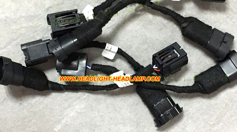 Honda Headlight Wiring Harness : Honda fit jazz halogen standard headlamp upgrade replace