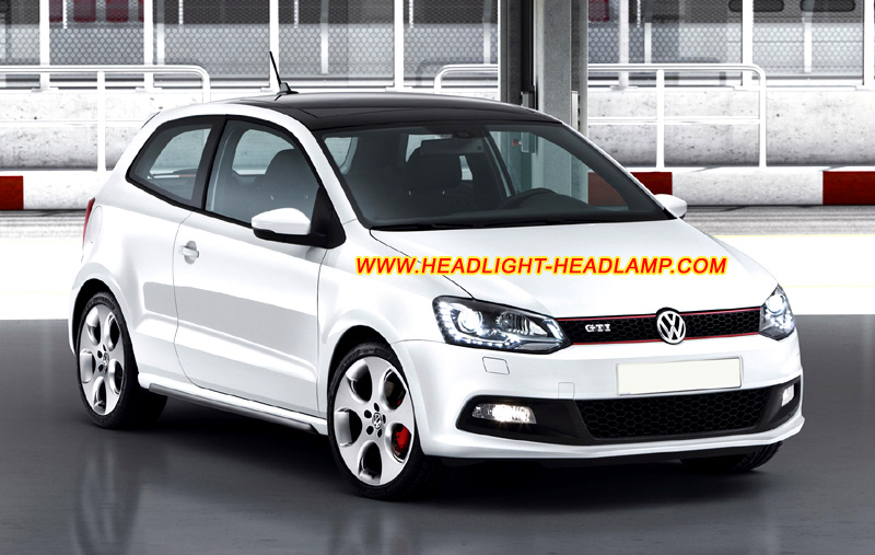 VW Volkswagen Polo Mk5 GTI HID Bi Xenon Headlight vw volkswagen polo halogen headlamp upgrade replace hid xenon mkv gti headlight wiring harness at gsmx.co