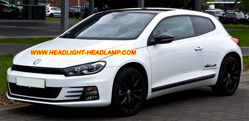 Vw Volkswagen Scirocco Halogen Headlamp Upgrade To Hid Bi