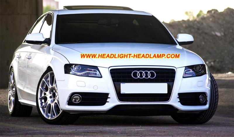 Audi A4 B8 Headlight Lens Cover Fogging Plastic Lenses Glass Shell