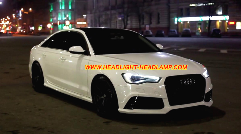 How To Repair Scratched Glass >> Audi A6 S6 RS6 C7 Xenon Full LED Headlight Lens Cover Crack Plastic Glass Shell Replacement