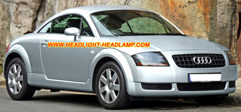 Audi TT Headlight Lens Cover Foggy Cracked Scratched Plastic Lenses