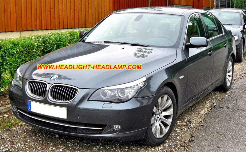 Bmw 5series E60 E61 Headlight Lens Cover Faded Plastic