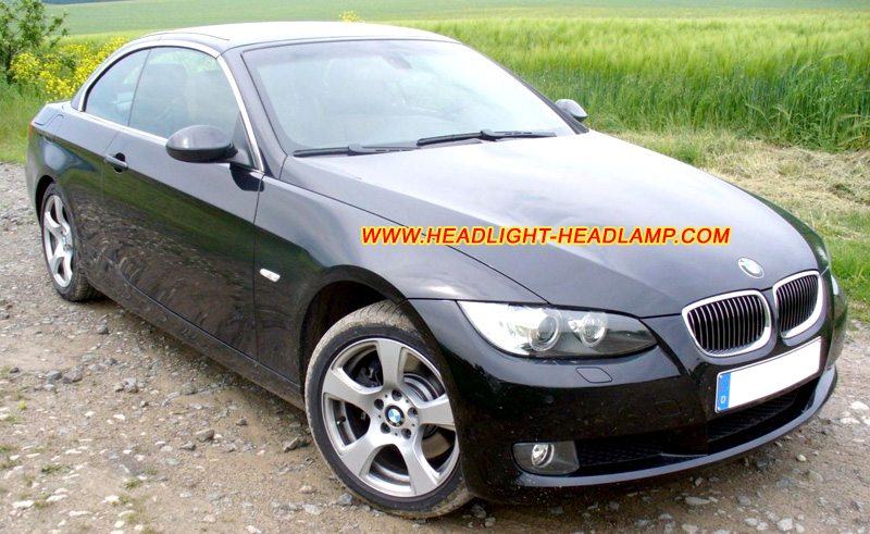 bmw 3series e92 e93 headlight lens cover crack lamp plastic lenses covers shell replace repair. Black Bedroom Furniture Sets. Home Design Ideas
