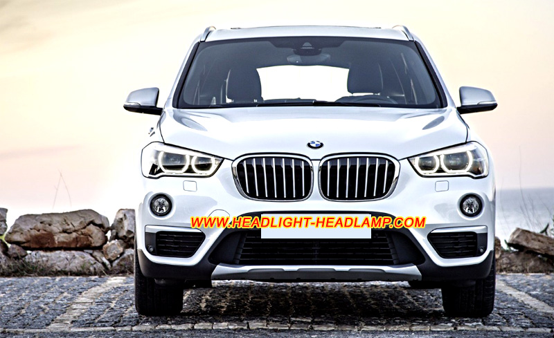 Bmw X1 F48 Headlight Lens Cover Cracked Xenon Led Headlamp