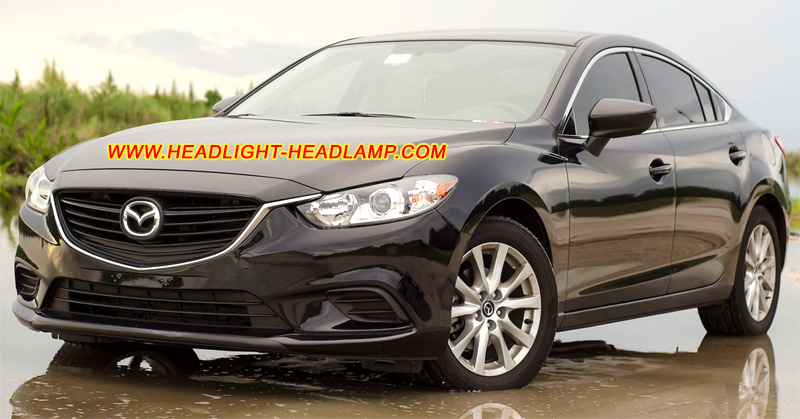 mazda6 atenza headlight lens cover foggy cracked headlamp. Black Bedroom Furniture Sets. Home Design Ideas
