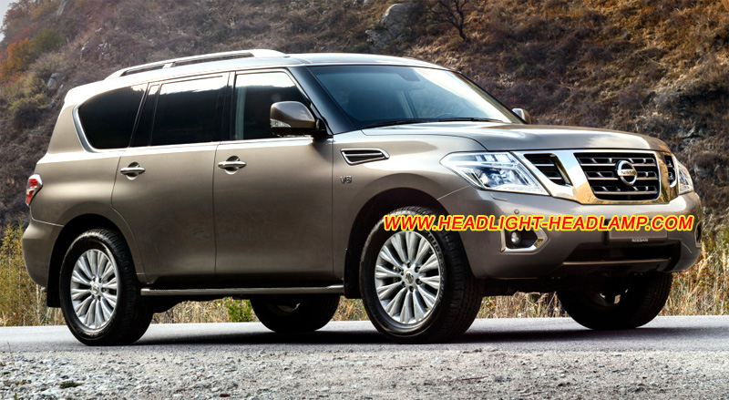 Nissan Patrol Y62 Headlight Lens Cover Scratched Cracked Plastic Lenses Covers Glass Haze Repair ...