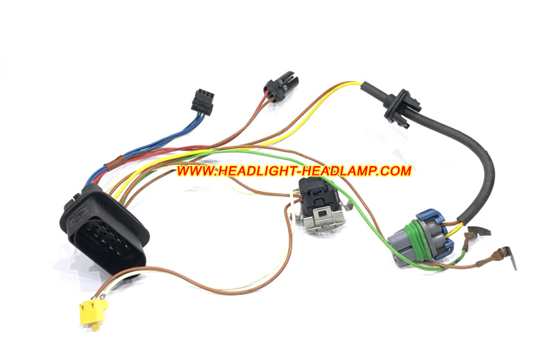audi a6 c5 headlight assembly inside lamp wire wiring harness cable loom  plug trunk wireing