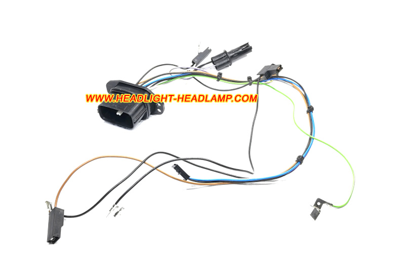 mazda 6 headlight assembly inside lamp wire wiring harness cable loom plug  trunk wireing