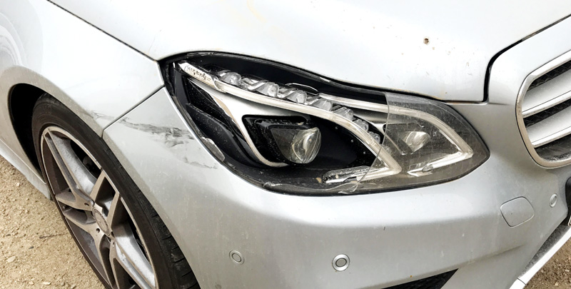 Mercedes Benz W212 Headlight Lens Cover Plastic Crack Fix Replace